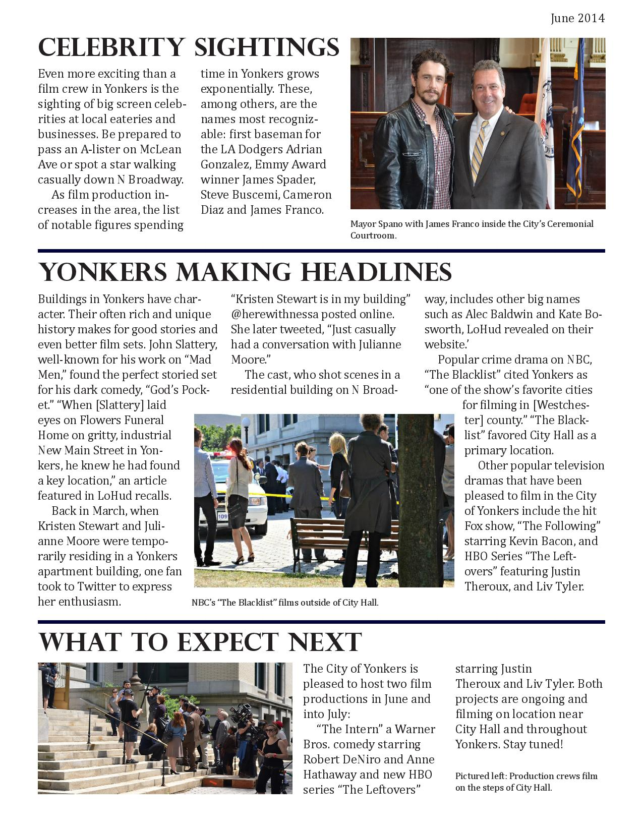 Film Yonkers June Newsletter Page 2