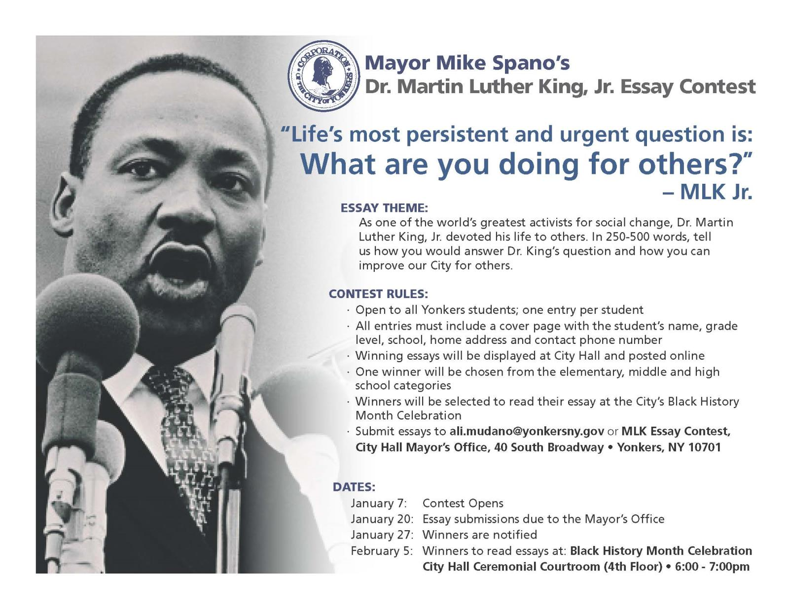 city of yonkers ny news mlk essaycontest flyer