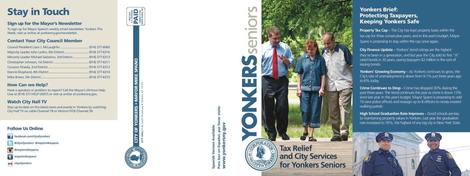 Office for the Aging | City of Yonkers, NY