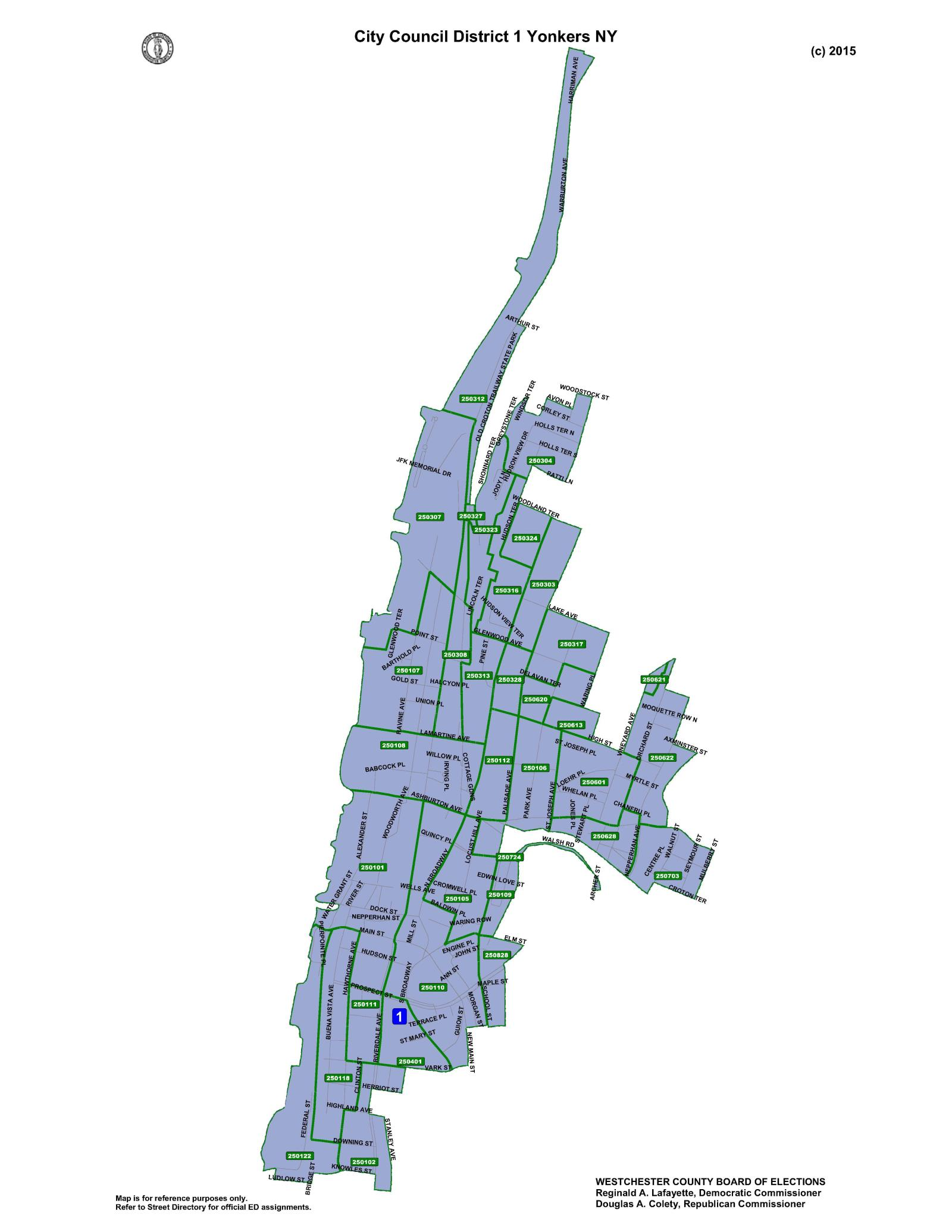 City Council Districts | City of Yonkers, NY on city of seattle boundary map, city of council bluffs map, city of baltimore maryland map, city map of pittsburgh before consolidation, city line map of los angeles,
