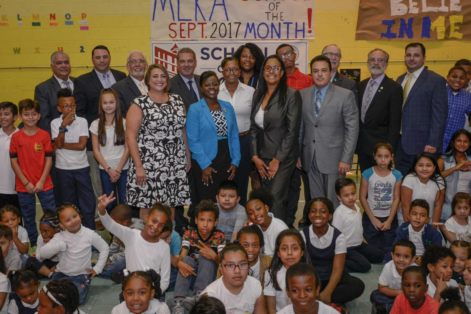 Mayor Spano Presents Martin Luther King, Jr. Academy with September 2017 School of the Month Award