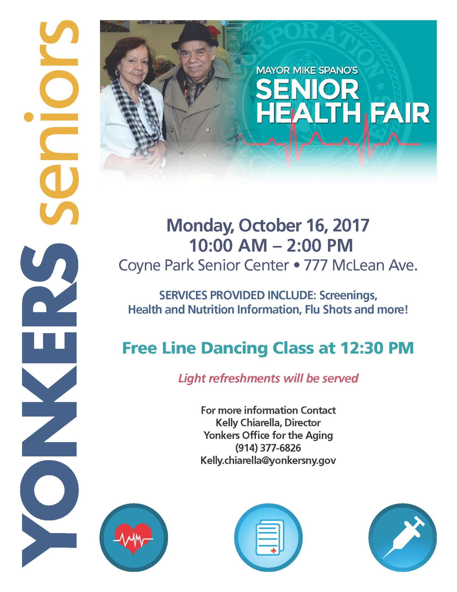 Mayor Mike Spano Hosts Annual Senior Health Fair