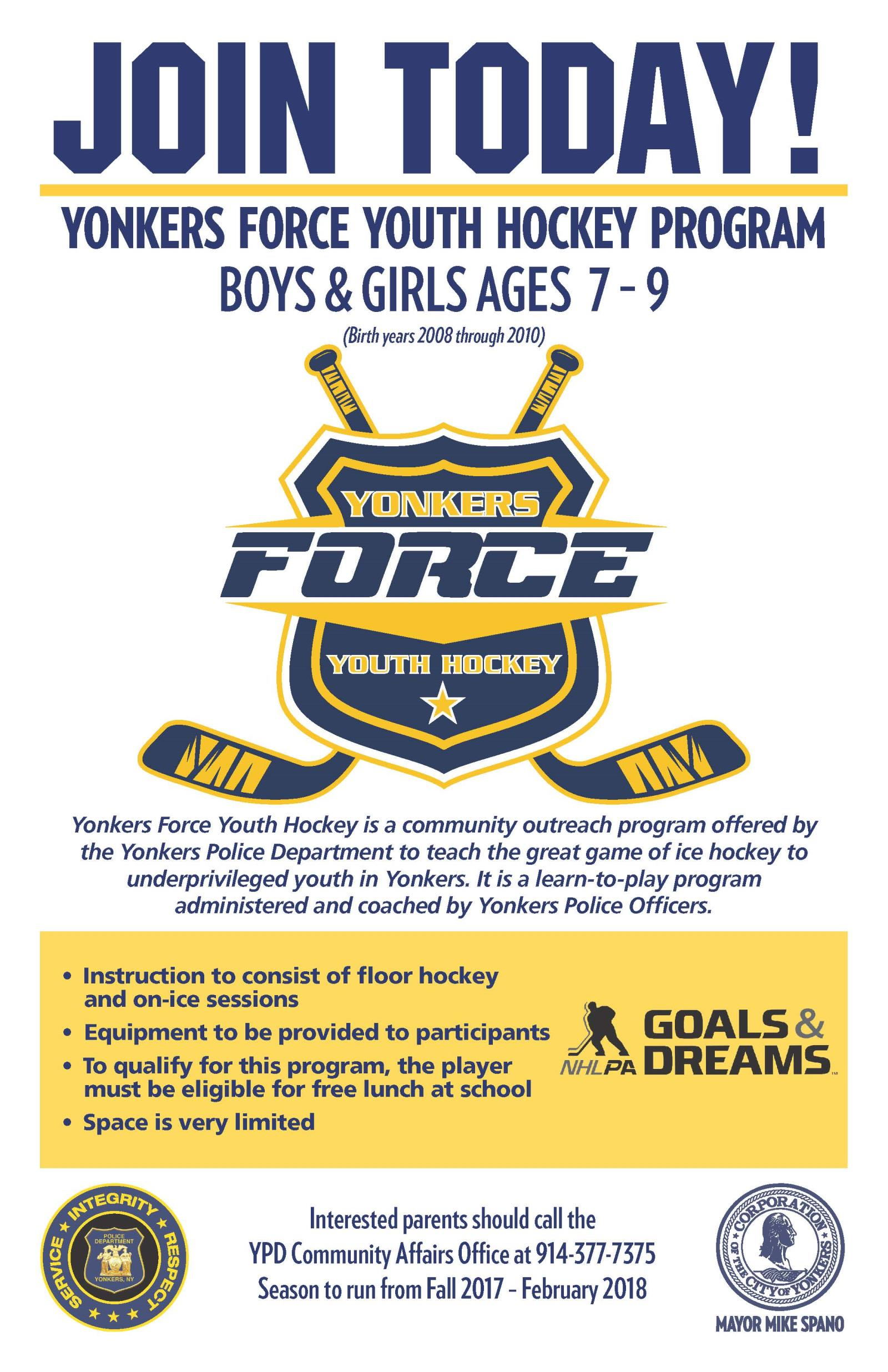 Yonkers Force Youth Hockey