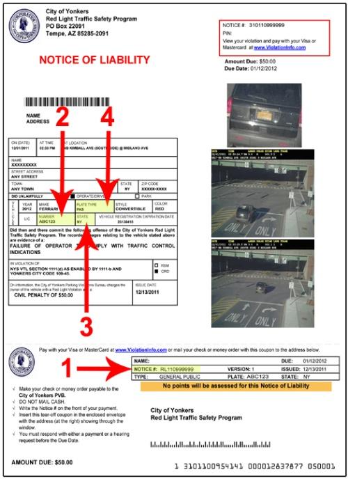 Yonkers Parking Tickets >> Beating A Red Light Camera Ticket Www Lightneasy Net