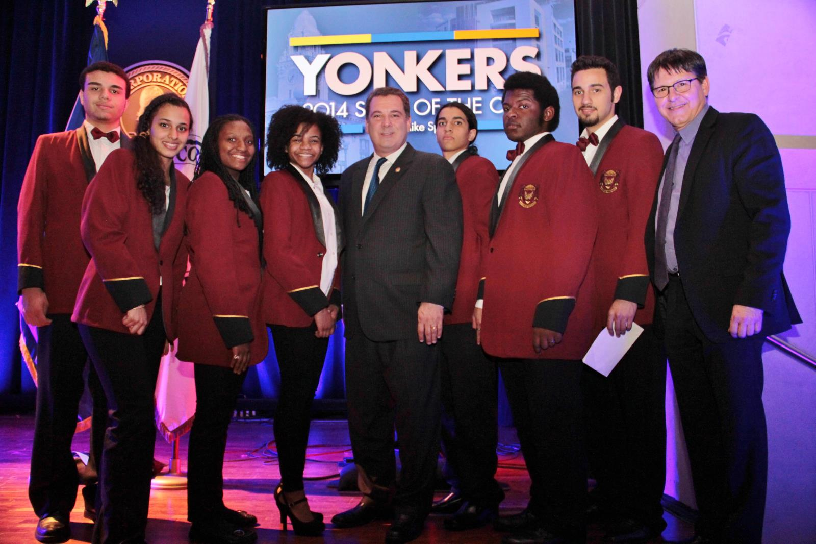 Mayor Mike Spano and Students from Palisade Preparatory