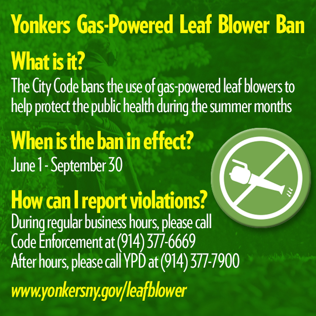 Leaf Blower Ban | City of Yonkers, NY