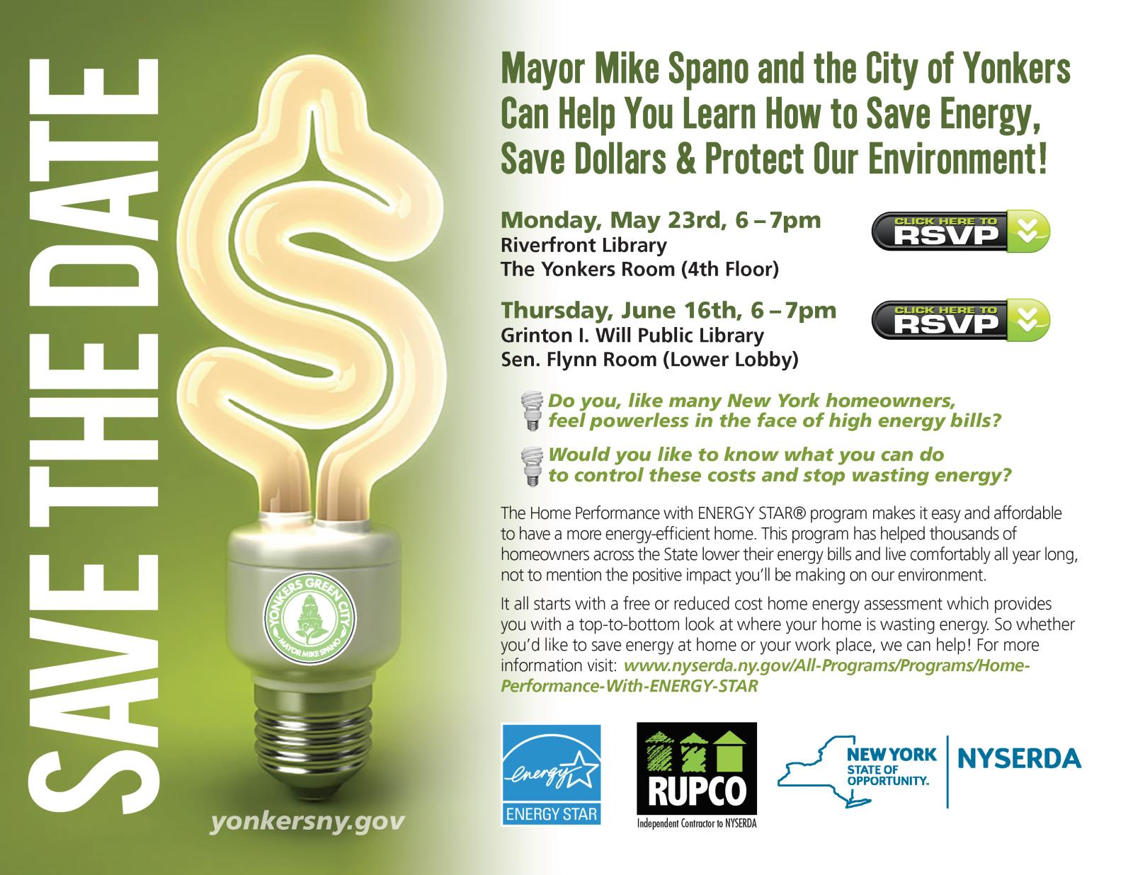 Save the Date-COY Energy Saving