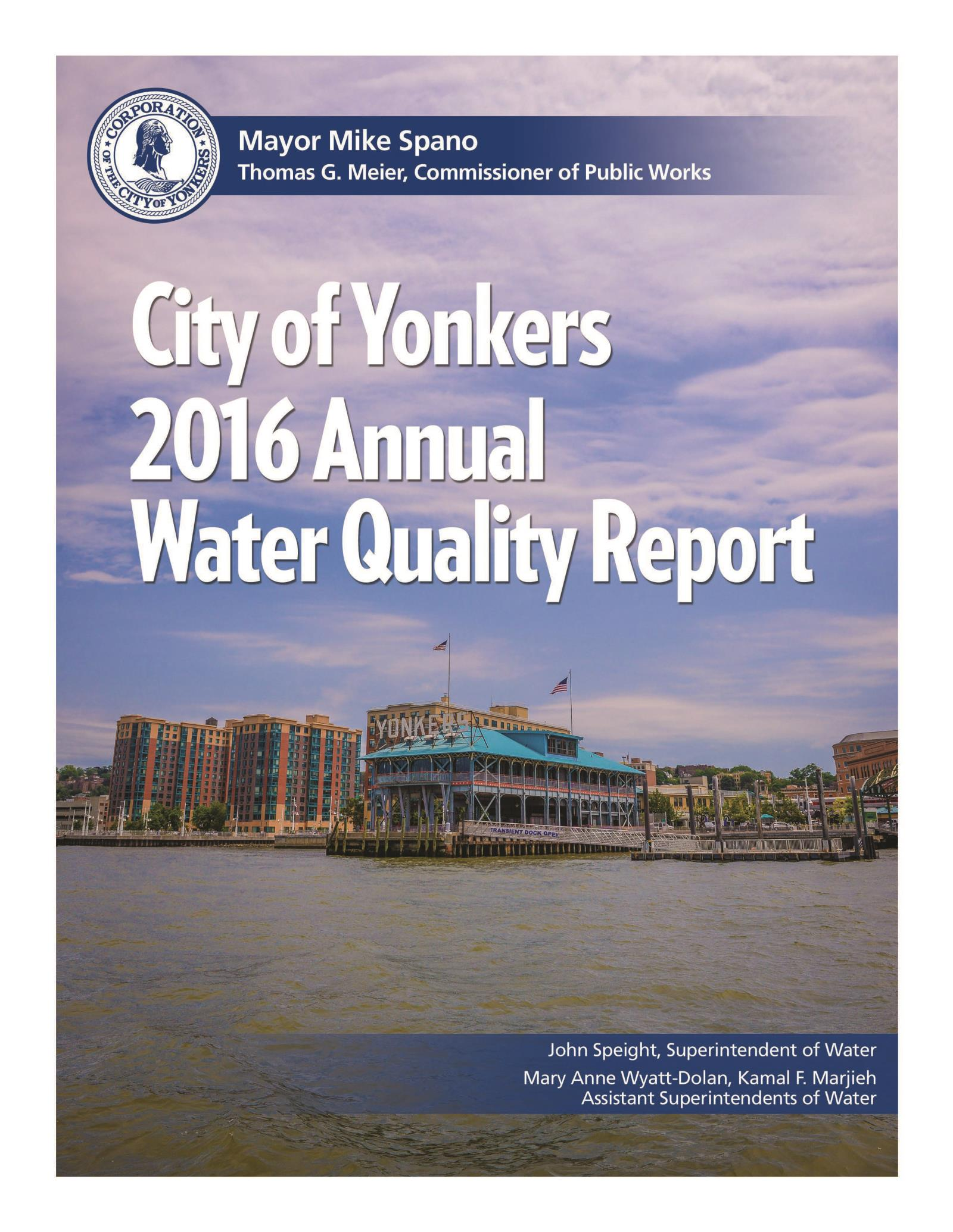 Water Quality Report 2016-cover