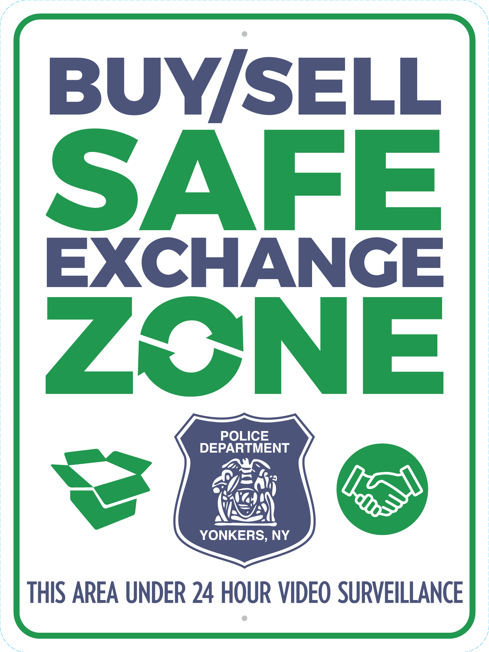 YPD-Safe Exchange Zone-sign