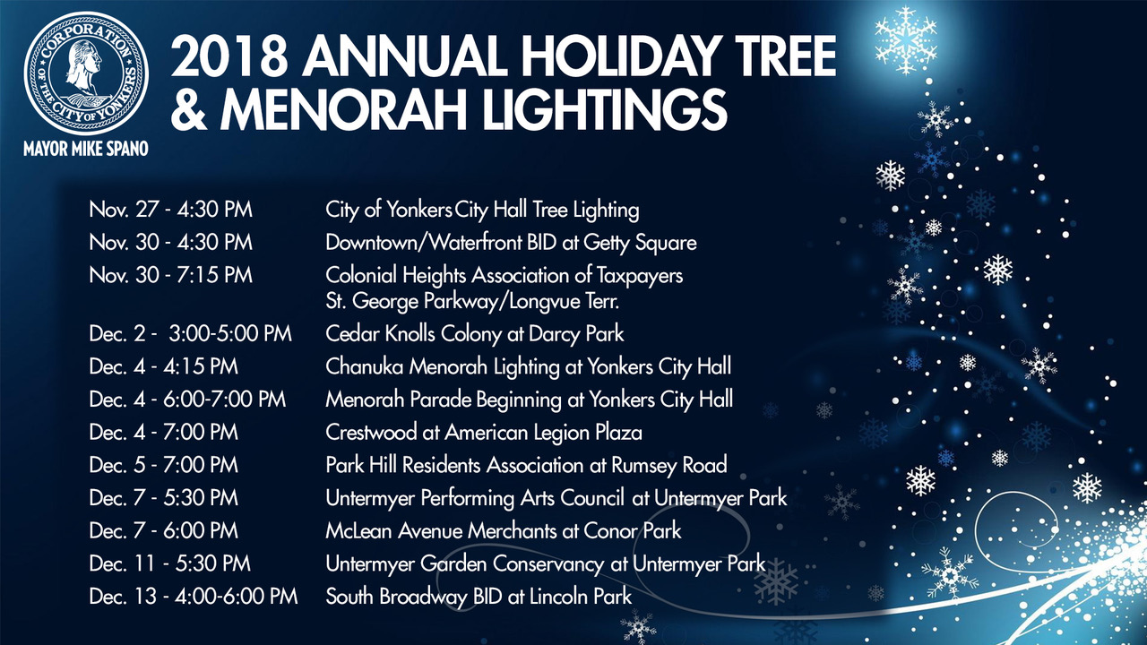 2018 Holiday Tree & Menorah