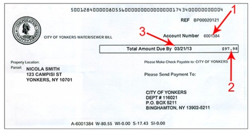 Yonkers Parking Tickets >> Water Bill City Of Yonkers Ny