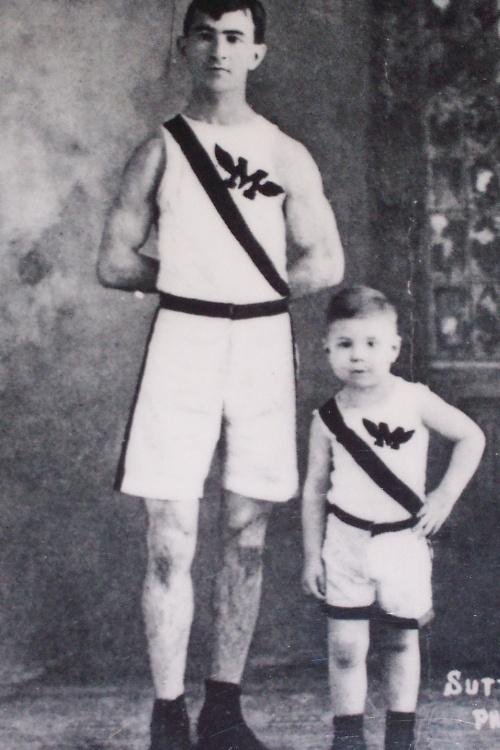 Sammy Mellor and his Son